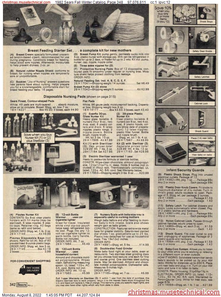 1982 Sears Fall Winter Catalog, Page 348
