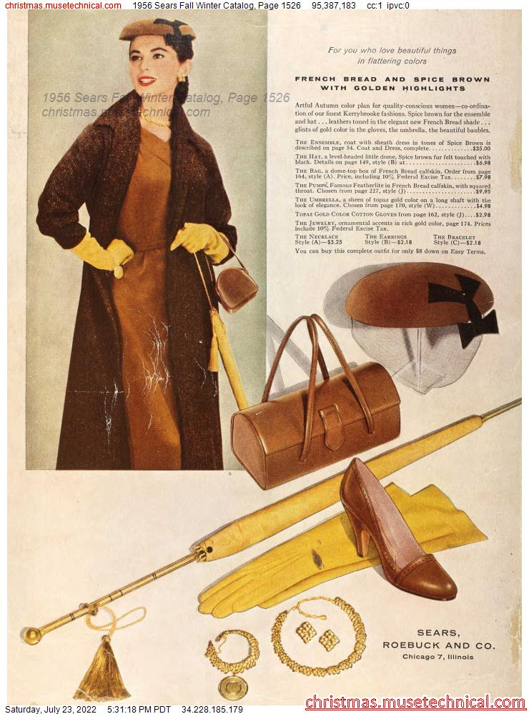1956 Sears Fall Winter Catalog, Page 1526