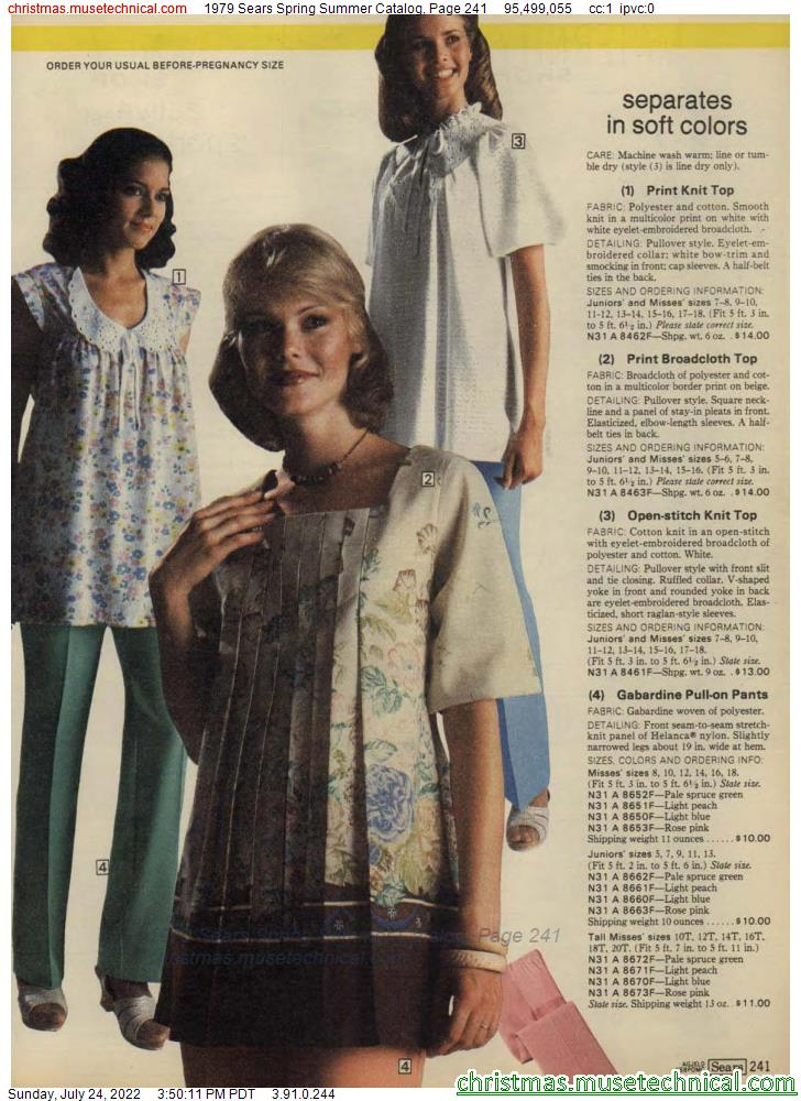 1979 Sears Spring Summer Catalog, Page 241