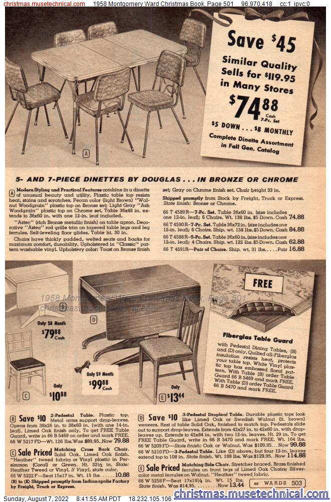 1958 Montgomery Ward Christmas Book, Page 501