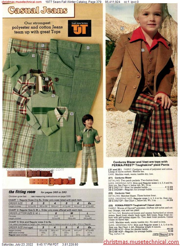 1977 Sears Fall Winter Catalog, Page 379