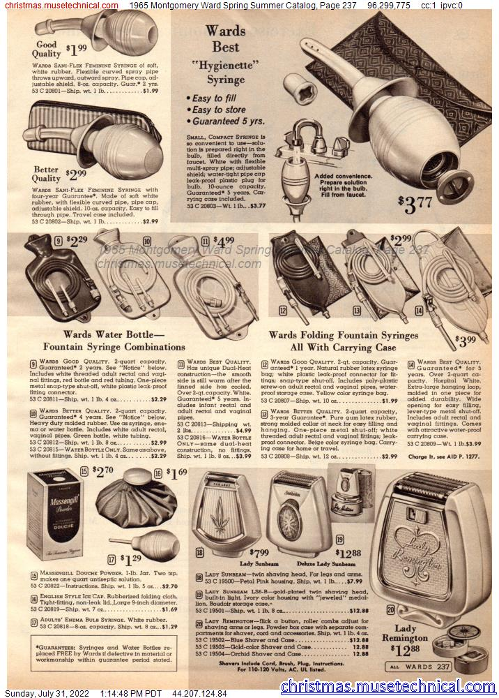 1965 Montgomery Ward Spring Summer Catalog, Page 237