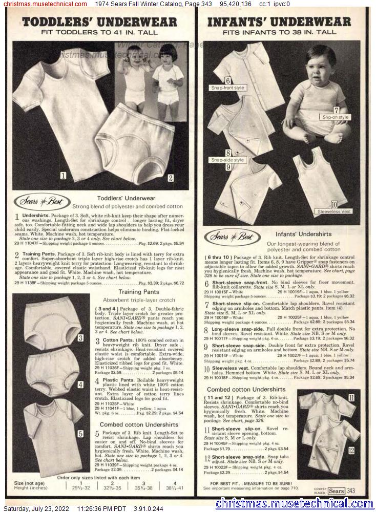 1974 Sears Fall Winter Catalog, Page 343