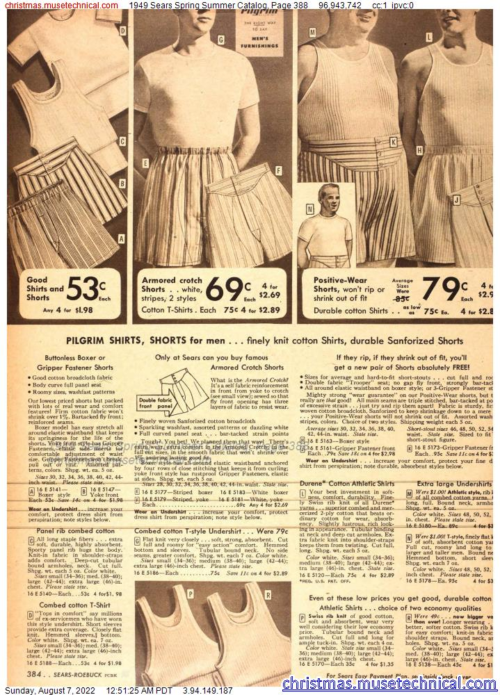 1949 Sears Spring Summer Catalog, Page 388