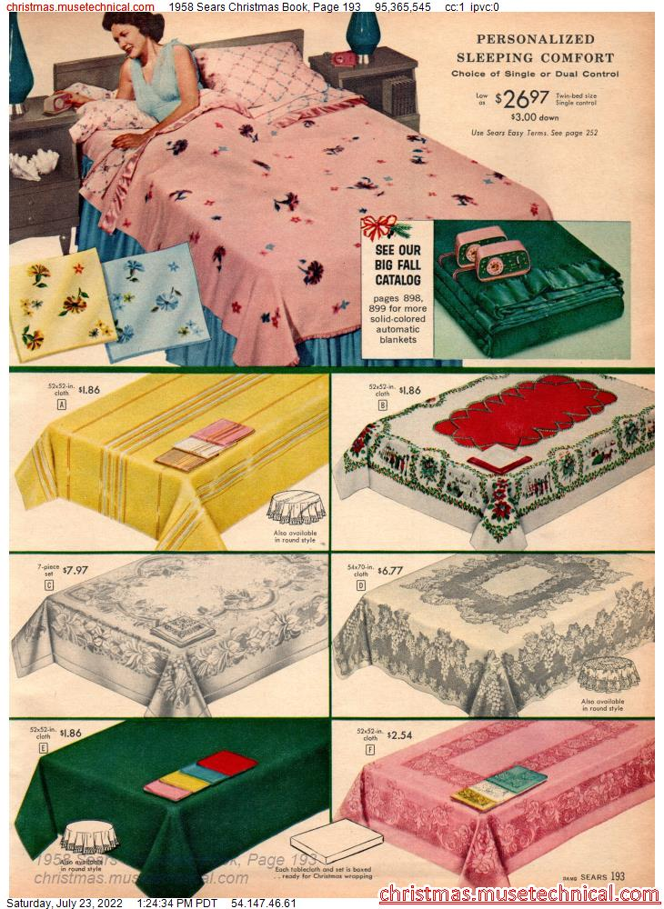 1958 Sears Christmas Book, Page 193