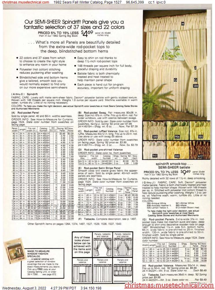 1982 Sears Fall Winter Catalog, Page 1527