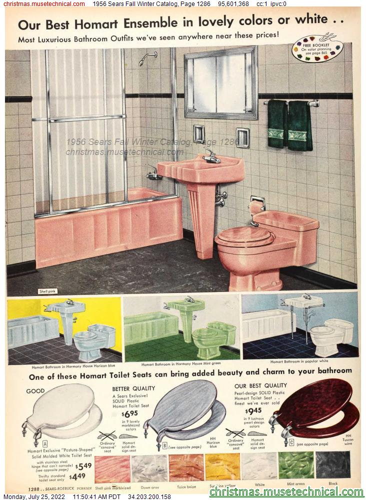 1956 Sears Fall Winter Catalog, Page 1286