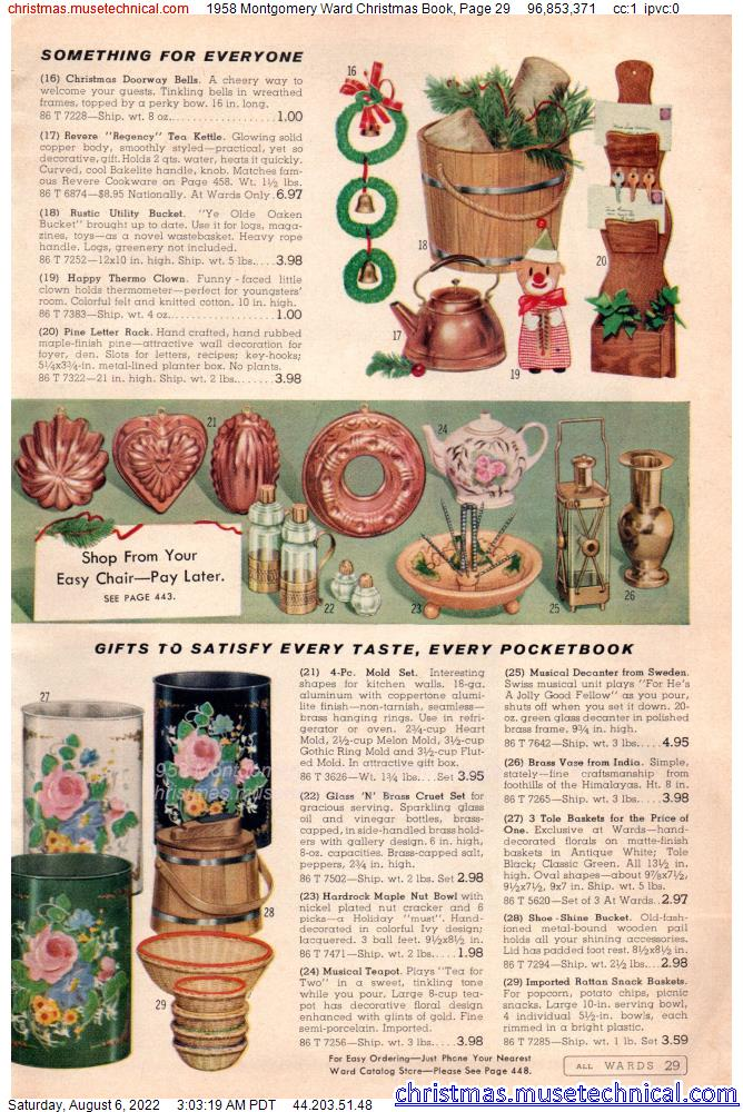 1958 Montgomery Ward Christmas Book, Page 29