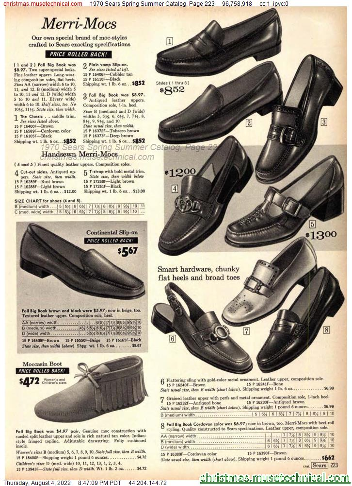 1970 Sears Spring Summer Catalog, Page 223