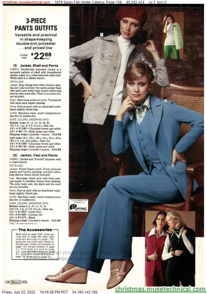 1976 Sears Fall Winter Catalog, Page 138