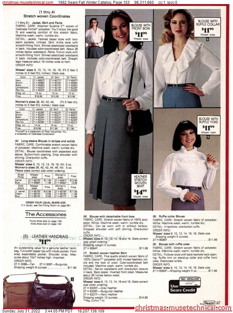 1982 Sears Fall Winter Catalog, Page 153