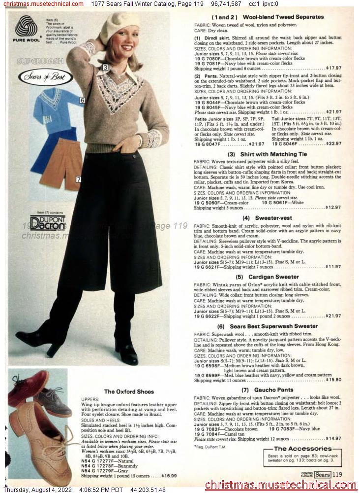 1977 Sears Fall Winter Catalog, Page 119