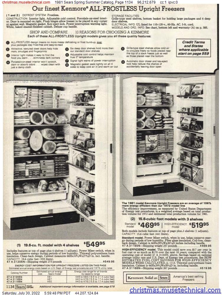 1981 Sears Spring Summer Catalog, Page 1134