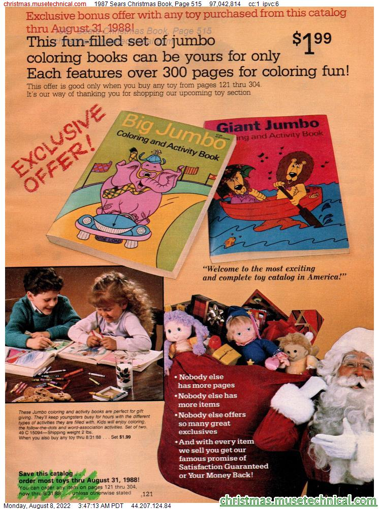 1987 Sears Christmas Book, Page 515