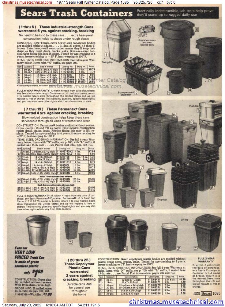 1977 Sears Fall Winter Catalog, Page 1085