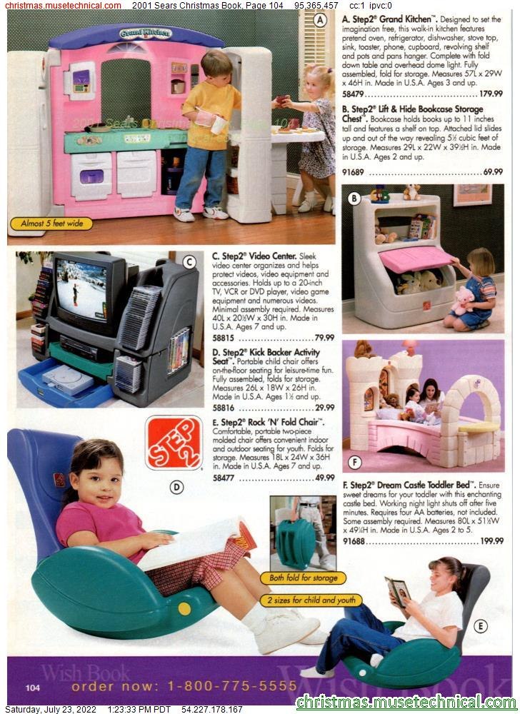 2001 Sears Christmas Book, Page 104