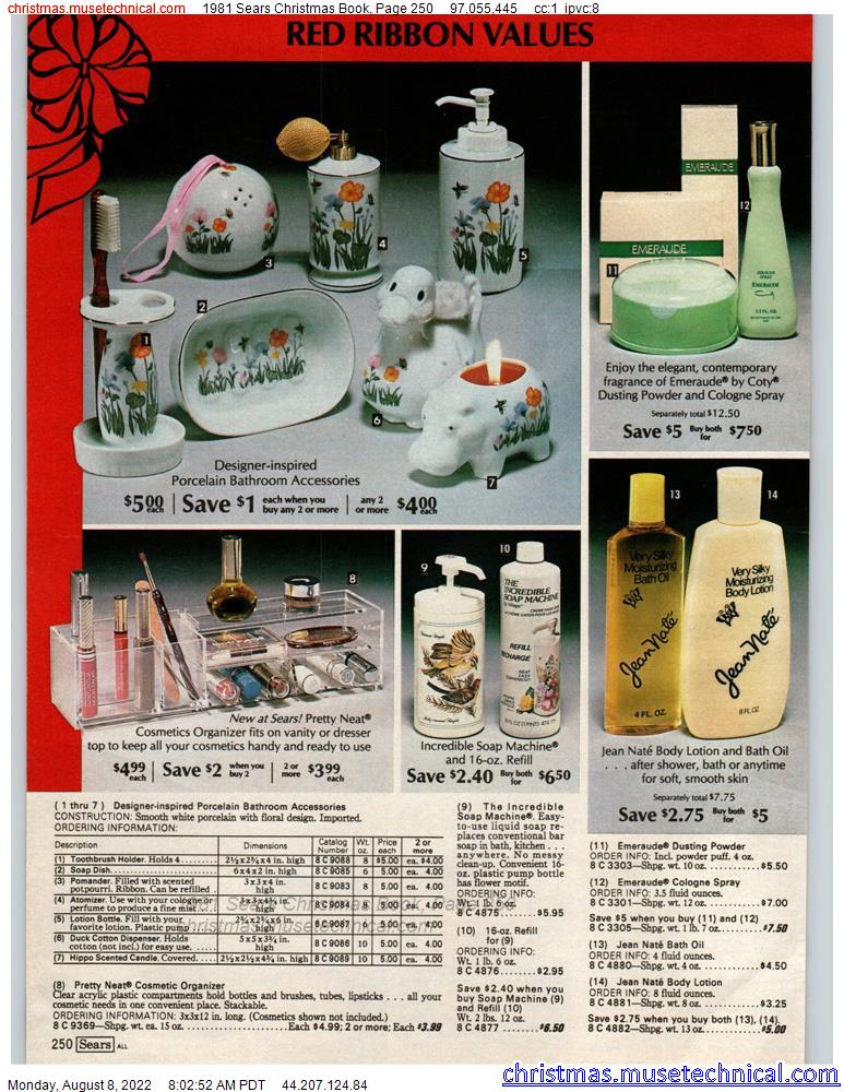 1981 Sears Christmas Book, Page 250