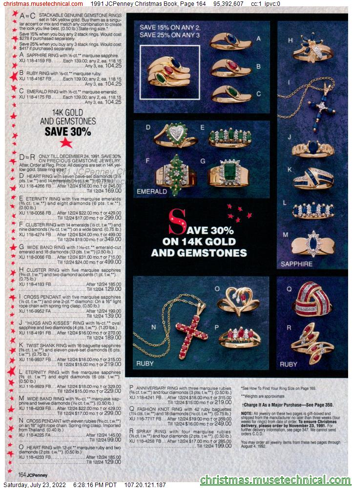 1991 JCPenney Christmas Book, Page 164