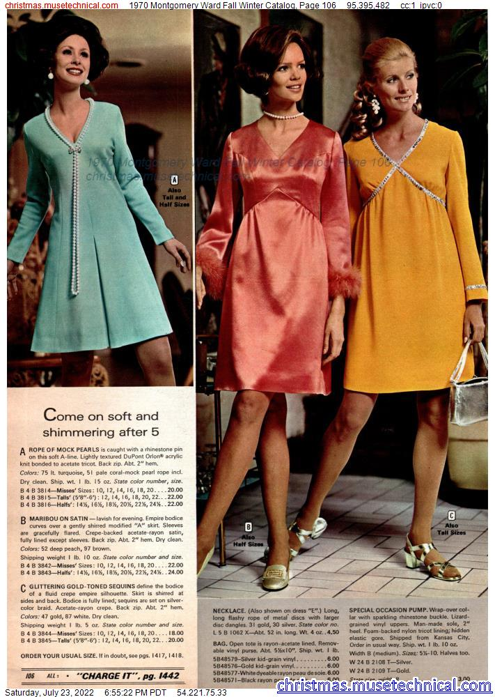 1970 Montgomery Ward Fall Winter Catalog, Page 106