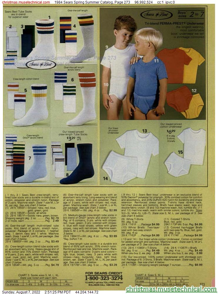 1984 Sears Spring Summer Catalog, Page 273