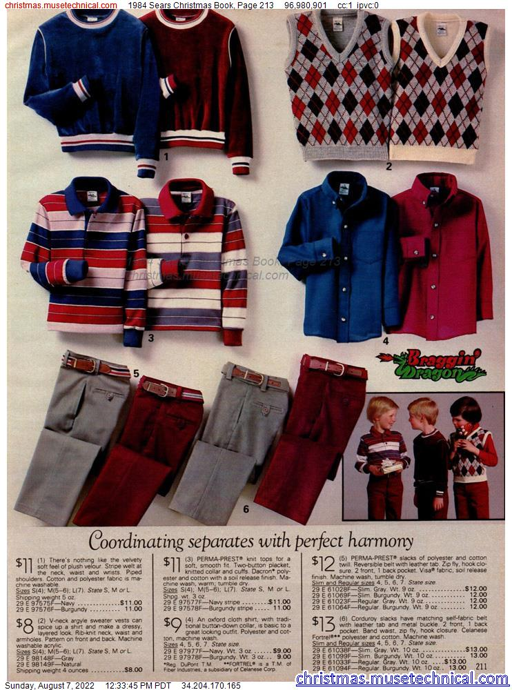 1984 Sears Christmas Book, Page 213