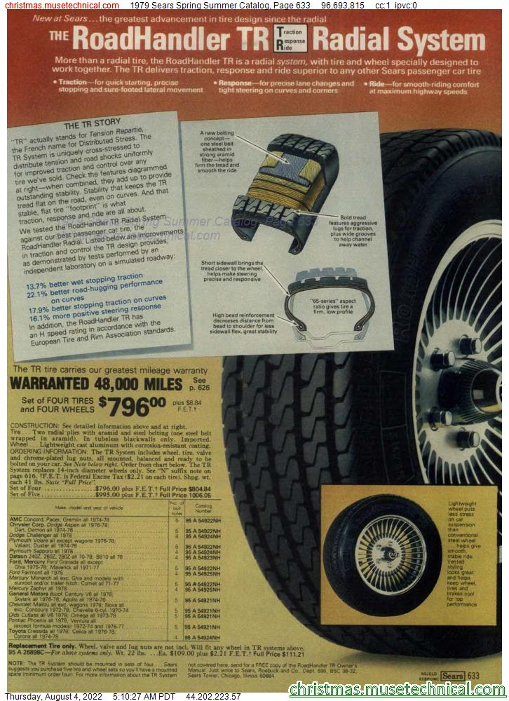 1979 Sears Spring Summer Catalog, Page 633