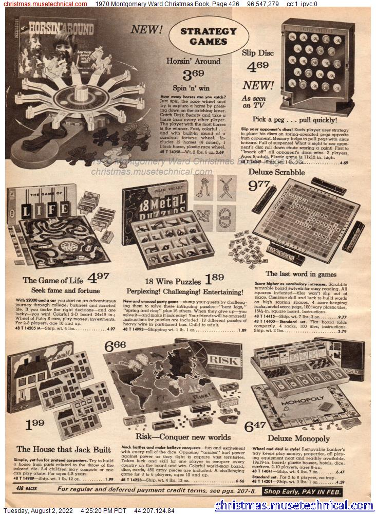 1970 Montgomery Ward Christmas Book, Page 426