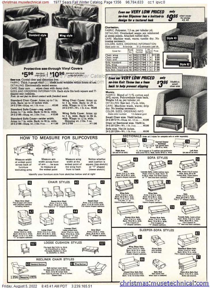 1977 Sears Fall Winter Catalog, Page 1356