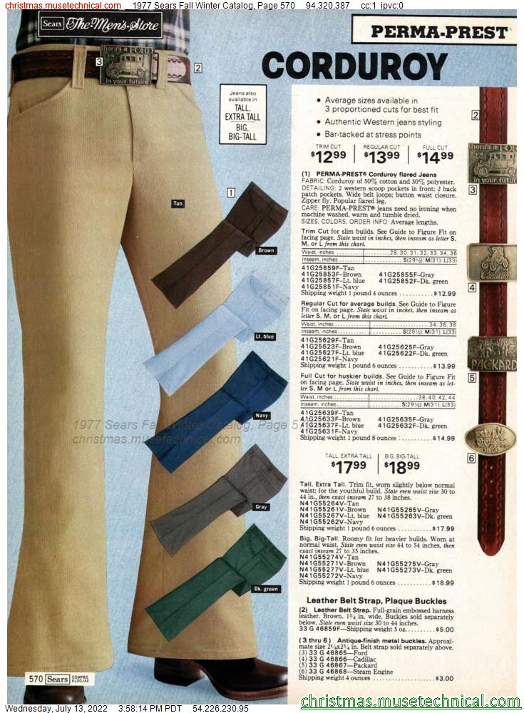 1977 Sears Fall Winter Catalog, Page 570