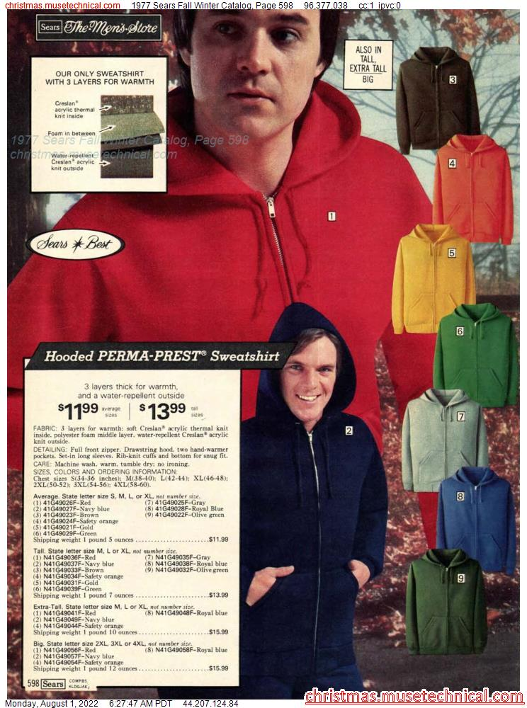 1977 Sears Fall Winter Catalog, Page 598