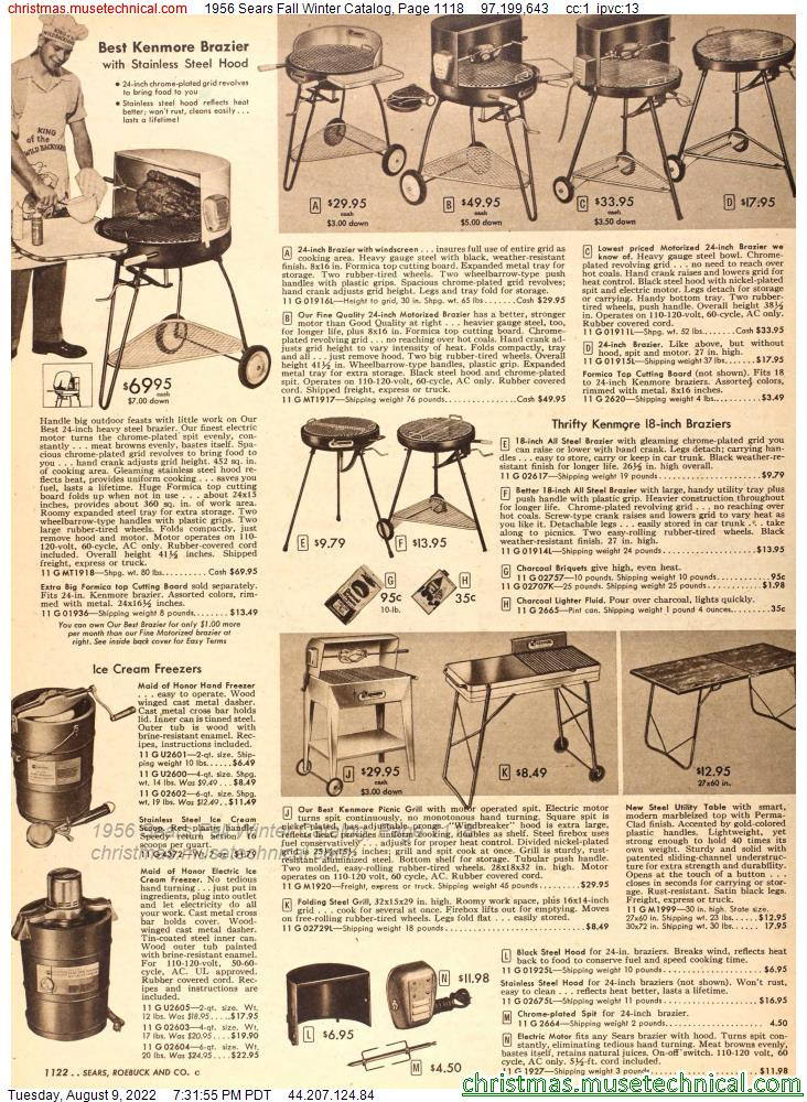 1956 Sears Fall Winter Catalog, Page 1118