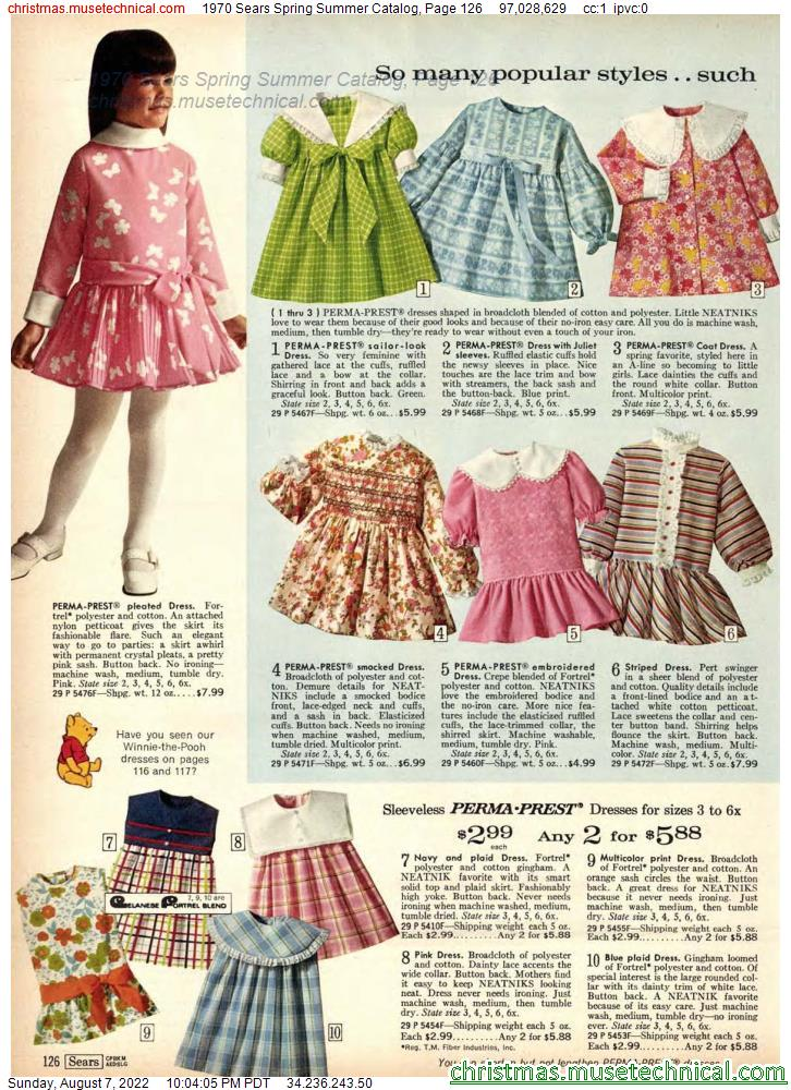 1970 Sears Spring Summer Catalog, Page 126