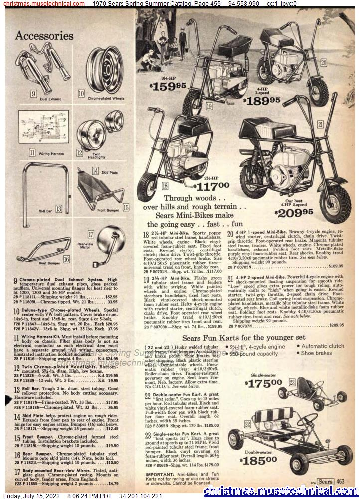 1970 Sears Spring Summer Catalog, Page 455