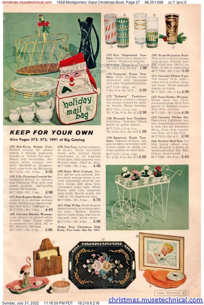 1958 Montgomery Ward Christmas Book, Page 27