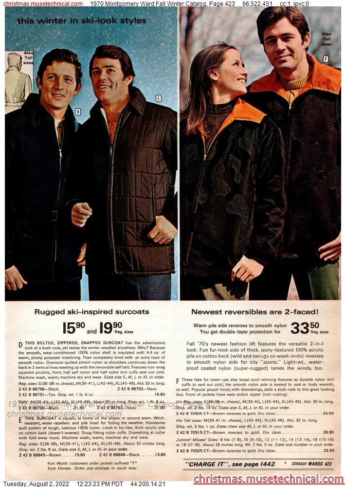 1970 Montgomery Ward Fall Winter Catalog, Page 423