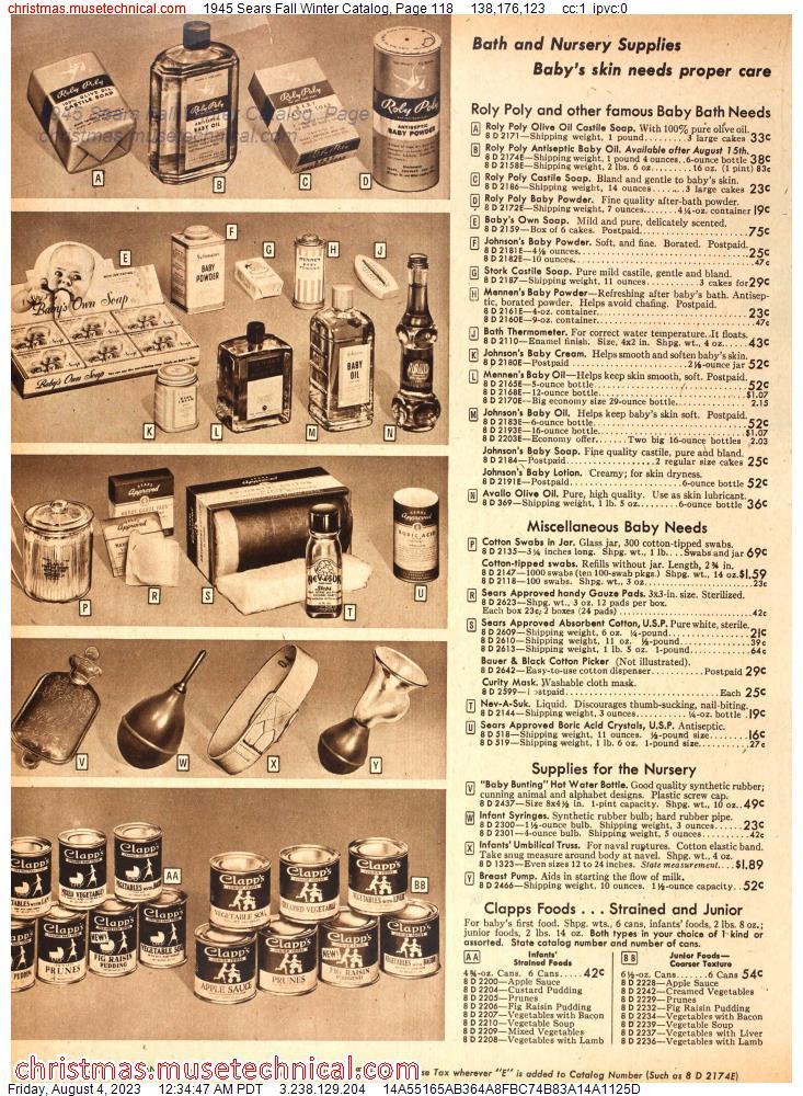 1945 Sears Fall Winter Catalog, Page 135 - Christmas