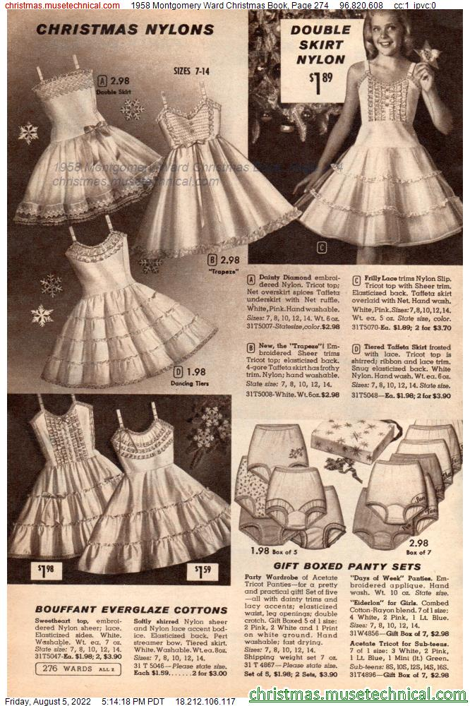 1958 Montgomery Ward Christmas Book, Page 274