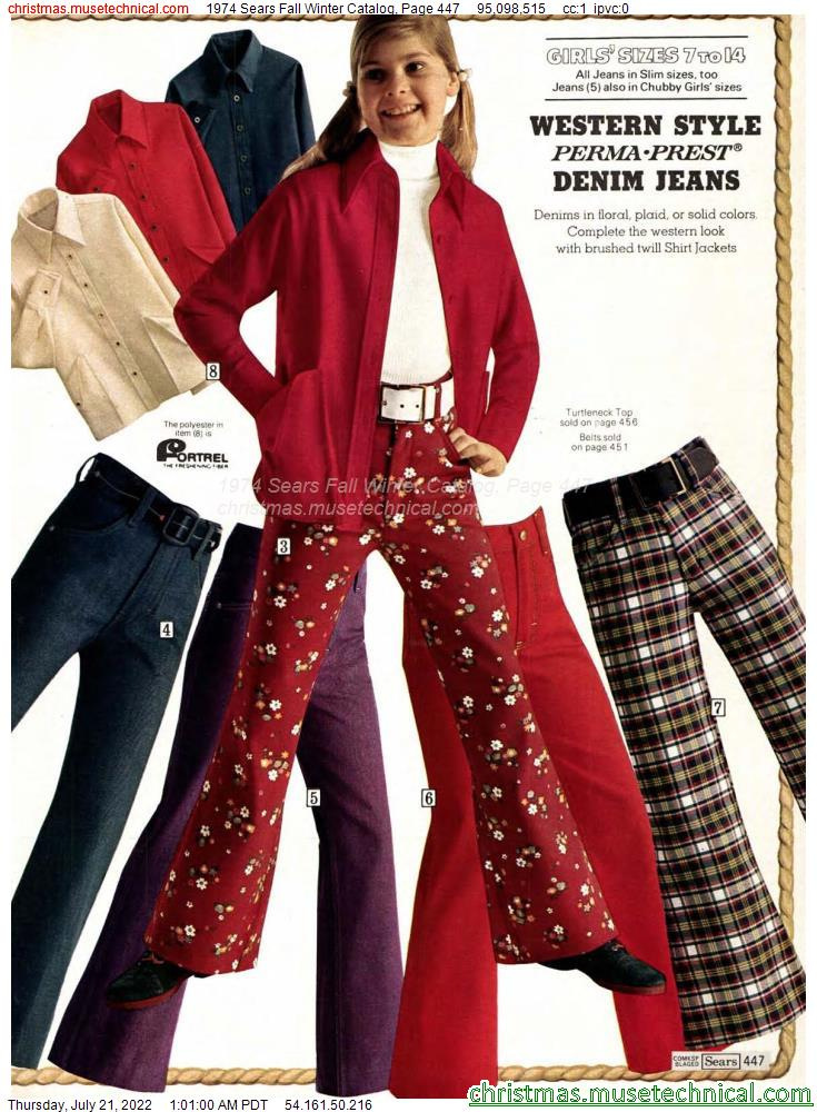 1974 Sears Fall Winter Catalog, Page 447