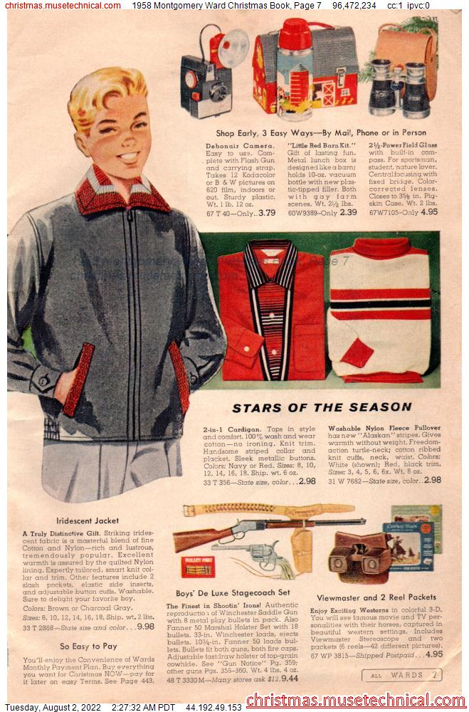 1958 Montgomery Ward Christmas Book, Page 7