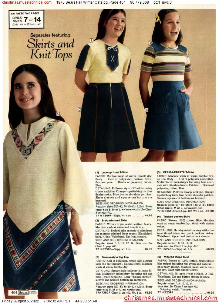 1976 Sears Fall Winter Catalog, Page 404