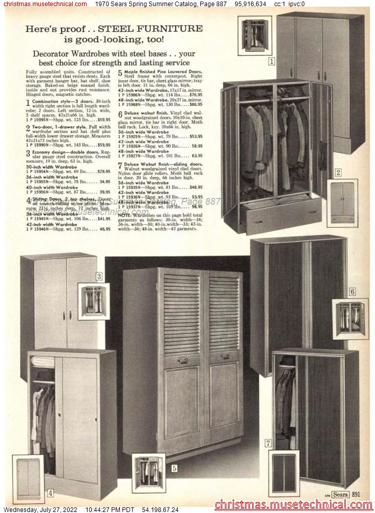 1970 Sears Spring Summer Catalog, Page 887