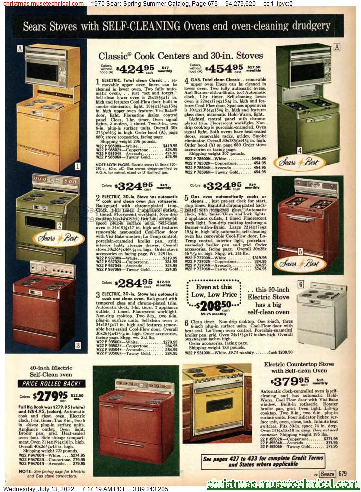 1970 Sears Spring Summer Catalog, Page 675