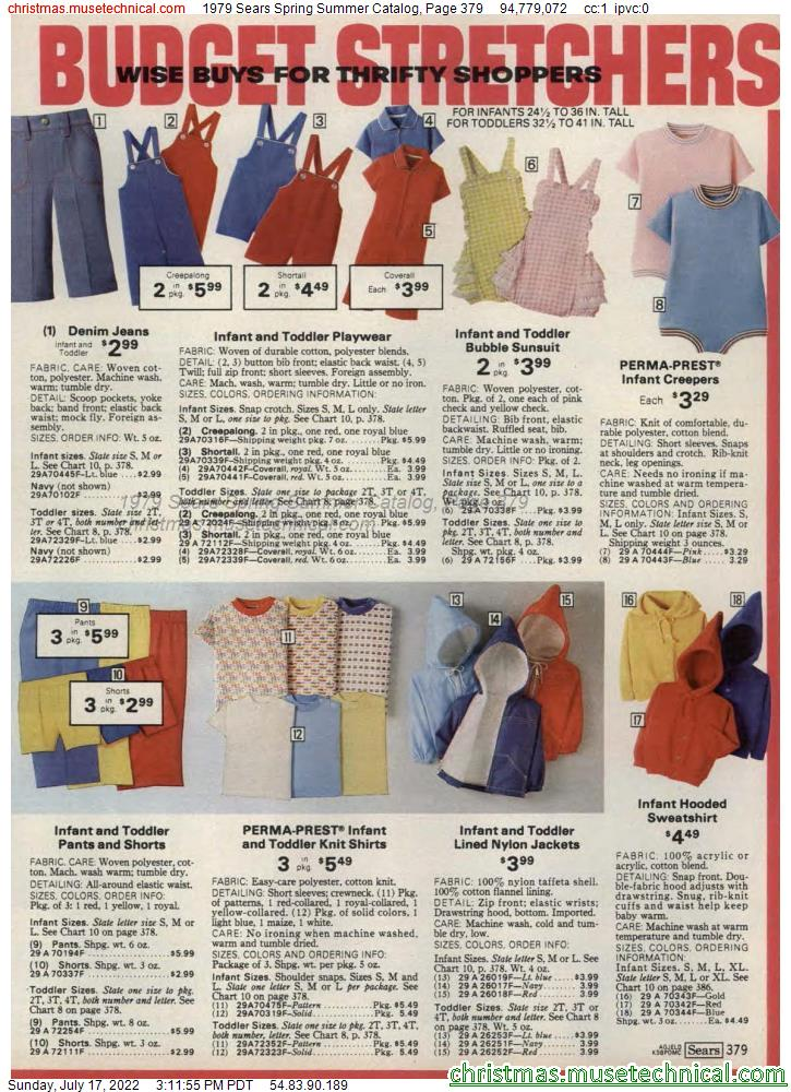 1979 Sears Spring Summer Catalog, Page 379