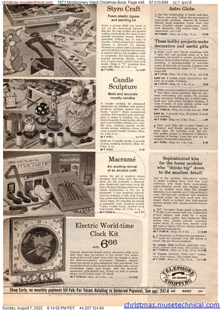 1971 Montgomery Ward Christmas Book, Page 446