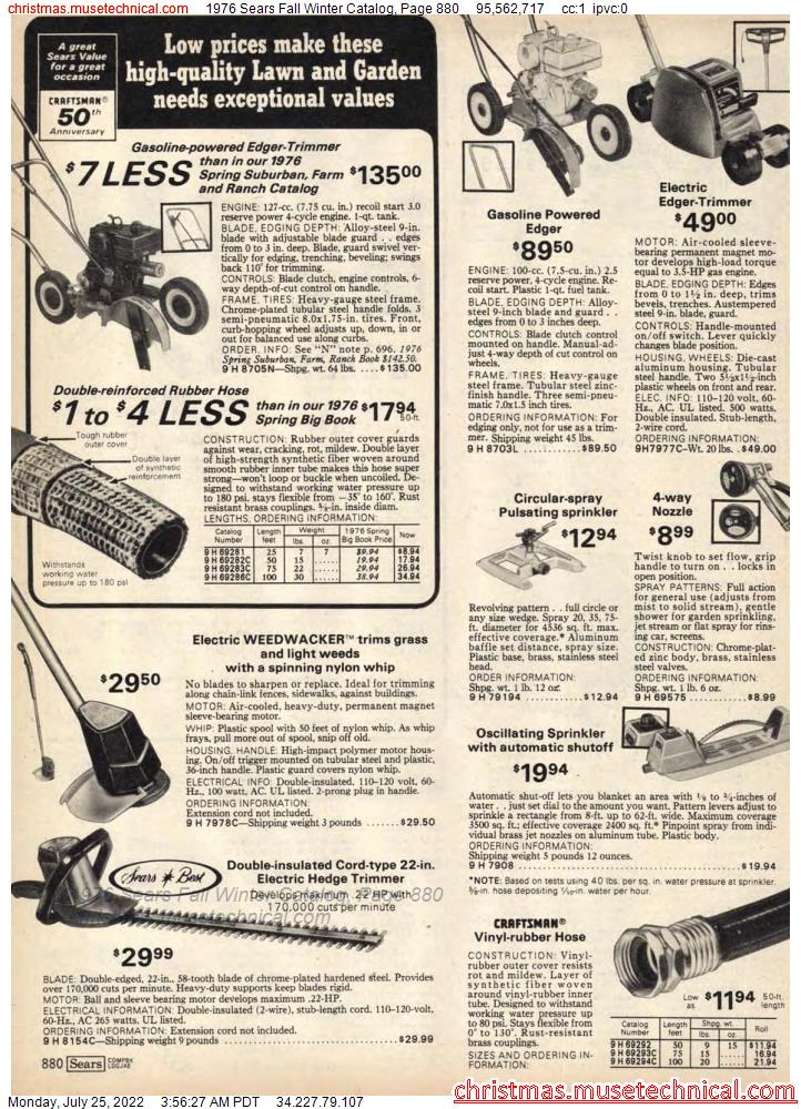 1976 Sears Fall Winter Catalog, Page 880