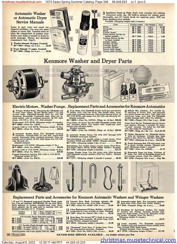 1970 Sears Spring Summer Catalog, Page 386
