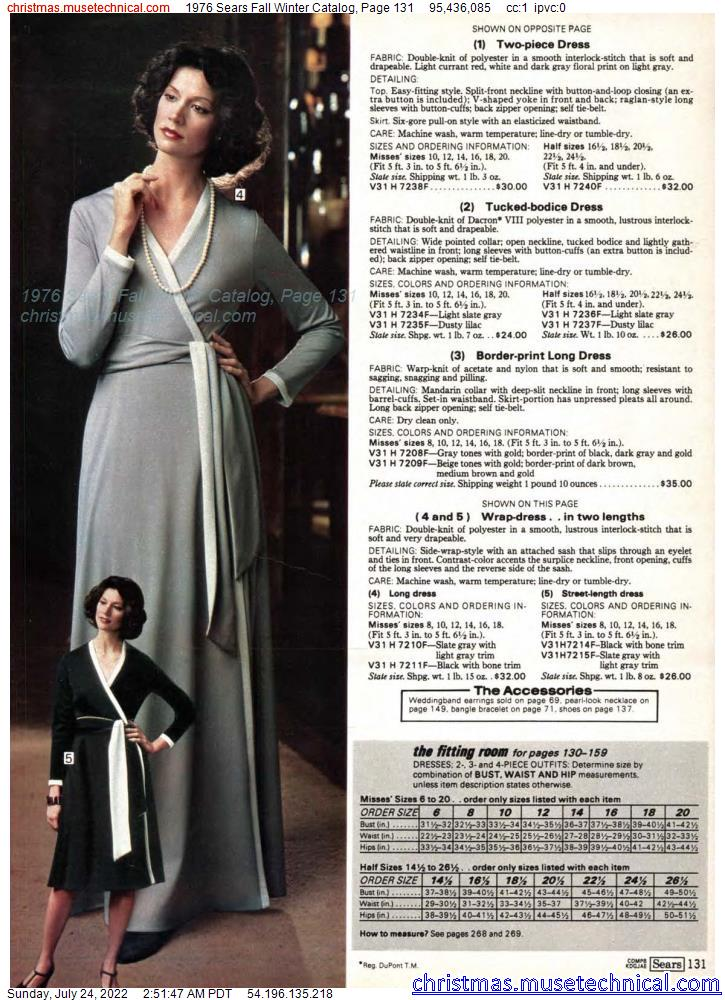 1976 Sears Fall Winter Catalog, Page 131