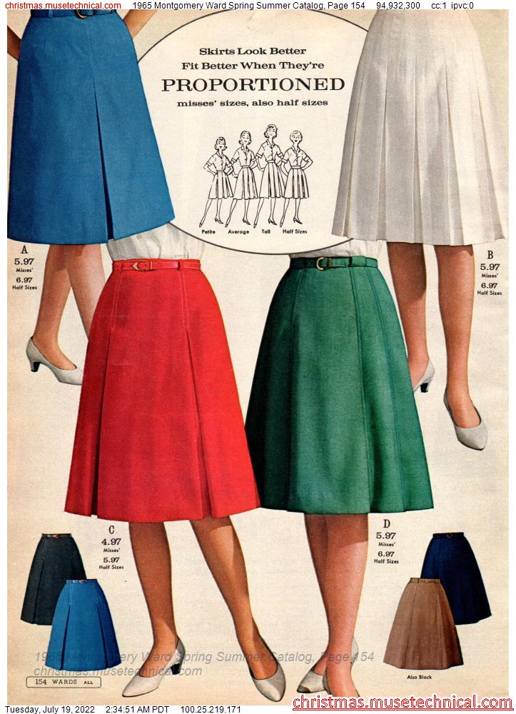 1965 Montgomery Ward Spring Summer Catalog, Page 154