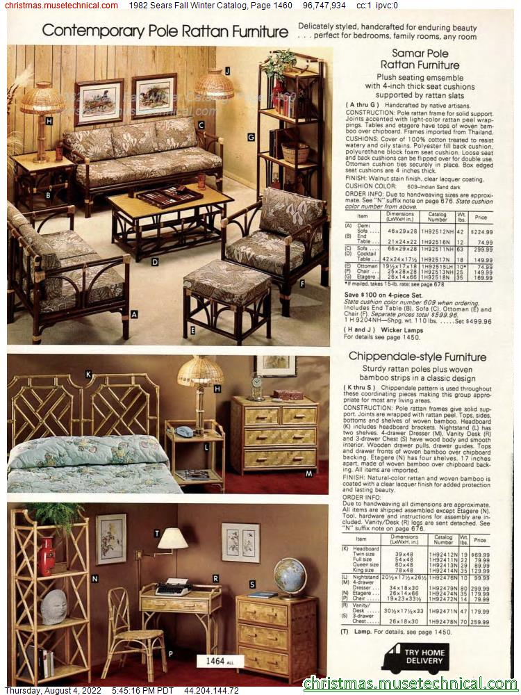 1982 Sears Fall Winter Catalog, Page 1460