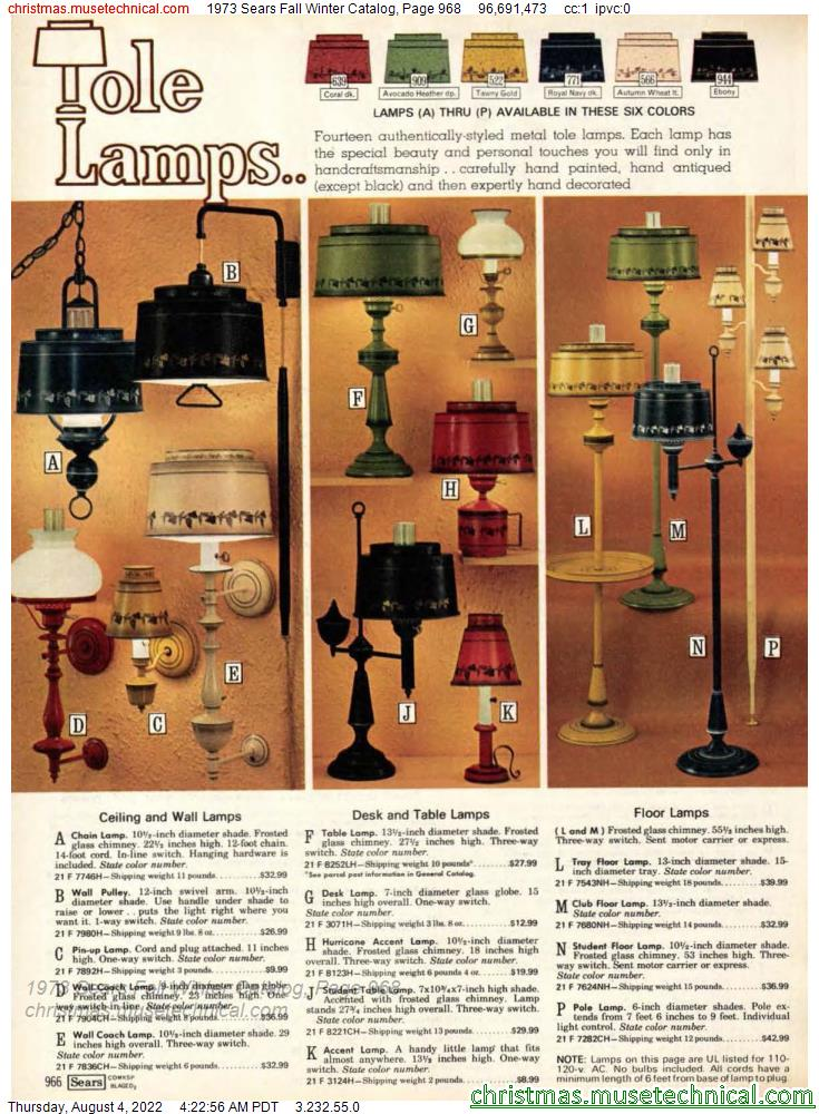 1973 Sears Fall Winter Catalog, Page 968